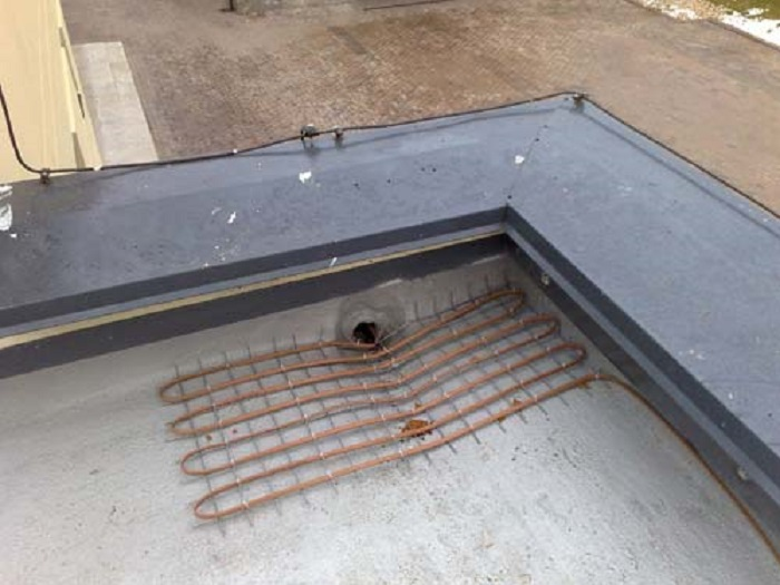 Водостоки в плоских крышах